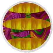 Feather Collage 1 Round Beach Towel