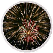 Feathers Of Fire Round Beach Towel