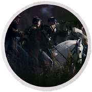 Federal Cavalry Round Beach Towel