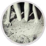 Feet In The Sand Round Beach Towel