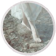 Feet In Water Round Beach Towel