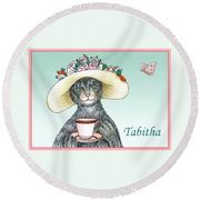 Feline Finery - Tabitha Round Beach Towel