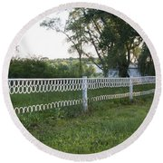 Fence Or Shoes Round Beach Towel