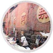 Fenghuang Street Round Beach Towel