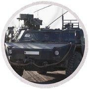 Fennek Armored Reconnaissancd Vehicles Round Beach Towel