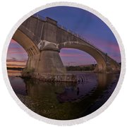 Fernbridge Dusk Round Beach Towel
