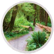 Ferns And Mosses Round Beach Towel