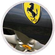 Ferrari 360 Spider F1 Round Beach Towel