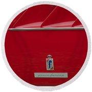 Ferrari Pininfarina Emblem 3 Round Beach Towel