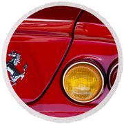 Ferrari Taillight Emblem 2 Round Beach Towel