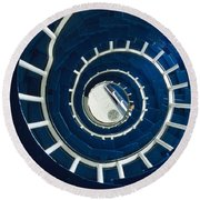 Ferris Point Lighthouse, Larne, County Round Beach Towel