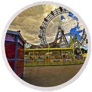 Ferris Wheel - Vienna Round Beach Towel