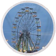 Ferris Wheel At Virginia Beach Round Beach Towel