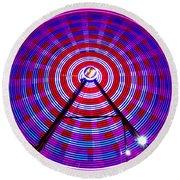Ferris Wheel Purple Round Beach Towel