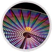 Ferris Wheel Rainbow Round Beach Towel