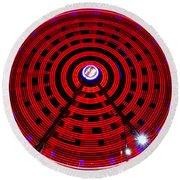Ferris Wheel Red Round Beach Towel