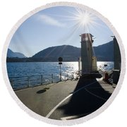 Ferry Harbour Round Beach Towel