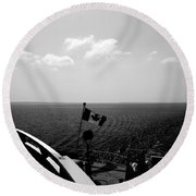 Ferry Ride Round Beach Towel