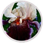Festive Iris Round Beach Towel