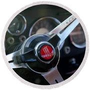 Fiat Steering Wheel Round Beach Towel