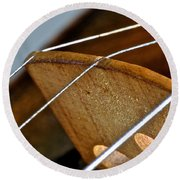 Fiddle Strings Round Beach Towel