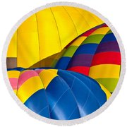 Field Of Color Round Beach Towel