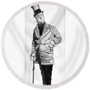 Fields As The Imperishable Wilkins Micawber Round Beach Towel