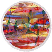 Fields Round Beach Towel