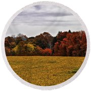 Fields Of Gold Round Beach Towel