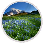 Fields Of Paradise Round Beach Towel