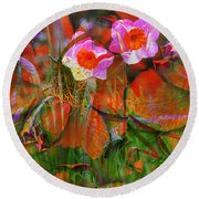 Fields Of Seeds Round Beach Towel