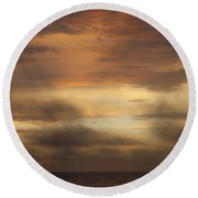 Fiery Atlantic Sunrise 1 Round Beach Towel