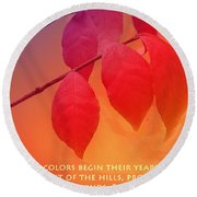 Fiery Colors Round Beach Towel