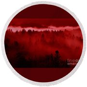 Fiery Forest  Round Beach Towel