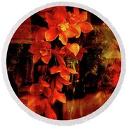 Fiery Ladies Round Beach Towel