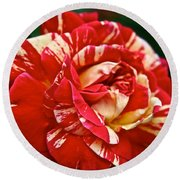 Fiesta Rose Round Beach Towel