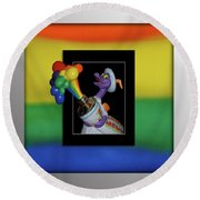 Figments Rainbow Of Colors Round Beach Towel