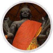 Angkor Wat Cambodia 3 Round Beach Towel