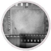 Film Negatives  Round Beach Towel