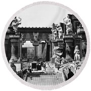 Film Set: Intolerance, 1916 Round Beach Towel