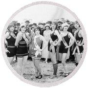 Film Still: Beauty Pageant Round Beach Towel