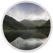 Fin Lough, Delphi Valley, Co Galway Round Beach Towel