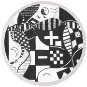 Finding The One Big Plus Round Beach Towel