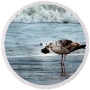 Fine Ocean Dining Round Beach Towel by Paul Ward
