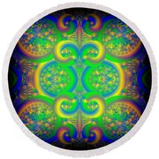 Finger Painting Round Beach Towel