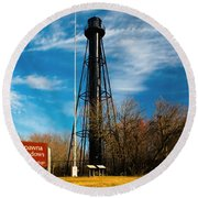 Finns Point Light Round Beach Towel