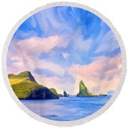 Fiord Round Beach Towel