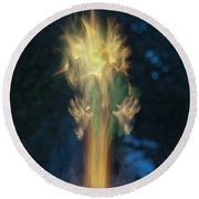 Fire Angel Round Beach Towel