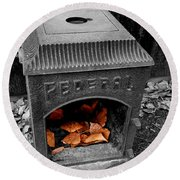 Fire Box Round Beach Towel