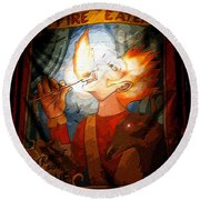 Fire Eater Round Beach Towel